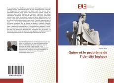 Capa do livro de Quine et le problème de l'identité logique