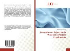 Perception et Enjeux de la Violence Syndicale Estudiantine kitap kapağı