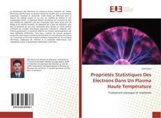 Propriétés Statistiques Des Electrons Dans Un Plasma Haute Température kitap kapağı