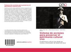 Portada del libro de Sistema de acciones para preservar el patrimonio cultural vivo