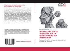 Buchcover von Alteración de la atención en la enfermedad de Alzheimer