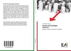 Обложка Scritti di Sociologia volume I