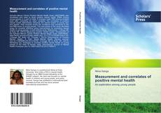 Portada del libro de Measurement and correlates of positive mental health