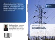Buchcover von Optimal placement of distributed generation