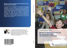 Buchcover von Model to Assess Community Involvement in the Governance of Schools