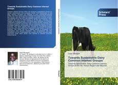 Couverture de Towards Sustainable Dairy Common Interest Groups