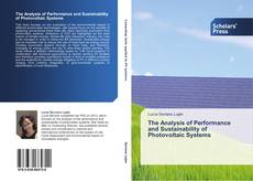 Обложка The Analysis of Performance and Sustainability of Photovoltaic Systems