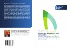 Copertina di Hydrogen production from renewables
