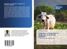 Couverture de Collection of materials for diagnosis of livestock diseases