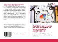 Portada del libro de Auditoría energética en una empresa de materiales de construcción