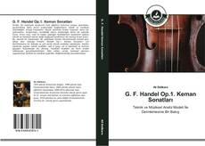 Capa do livro de G. F. Handel Op.1. Keman Sonatları