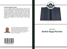 Kant'ta Saygı Kavramı kitap kapağı