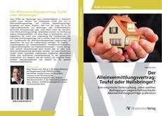 Bookcover of Der Alleinvermittlungsvertrag: Teufel oder Heilsbringer?