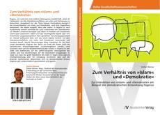 Buchcover von Zum Verhältnis von »Islam« und »Demokratie«