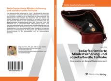 Capa do livro de Bedarfsorientierte Mindestsicherung und soziokulturelle Teilhabe