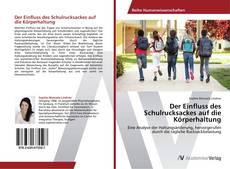 Buchcover von Der Einfluss des Schulrucksackes auf die Körperhaltung