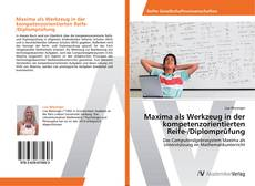 Buchcover von Maxima als Werkzeug in der kompetenzorientierten Reife-/Diplomprüfung