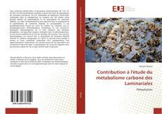Bookcover of Contribution à l'étude du métabolisme carboné des Laminariales