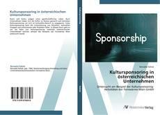 Buchcover von Kultursponsoring in österreichischen Unternehmen