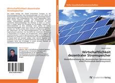 Portada del libro de Wirtschaftlichkeit dezentraler Stromspeicher