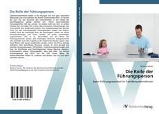 Bookcover of Die Rolle der Führungsperson