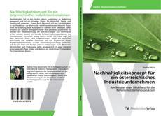 Copertina di Nachhaltigkeitskonzept für ein österreichisches Industrieunternehmen