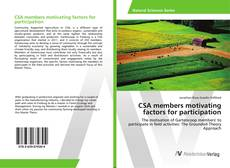 Capa do livro de CSA members motivating factors for participation