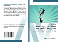 Bookcover of Brand communication in mid-size B2B companies