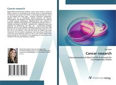 Bookcover of Cancer research