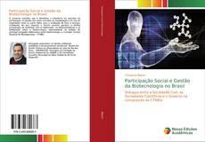 Capa do livro de Participação Social e Gestão da Biotecnologia no Brasil