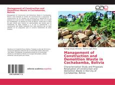 Management of Construction and Demolition Waste in Cochabamba, Bolivia
