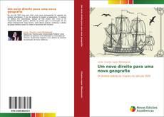 Capa do livro de Um novo direito para uma nova geografia
