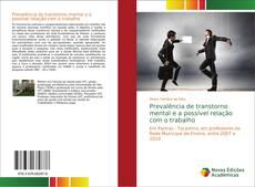 Bookcover of Prevalência de transtorno mental e a possível relação com o trabalho