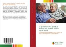 Capa do livro de O que ensinar a quem já ensina em aula de língua estrangeira