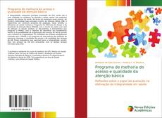 Buchcover von Programa de melhoria do acesso e qualidade da atenção básica