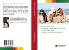 Capa do livro de Adolescentes em editoriais da revista Capricho