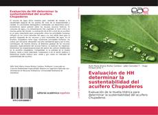 Capa do livro de Evaluación de HH determinar la sustentabilidad del acuífero Chupaderos