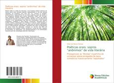 """Bookcover of Poéticas orais: sopros """"anônimos"""" de vida literária"""