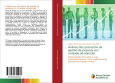 Capa do livro de Análise dos processos de gestão de pessoas em unidade de atenção