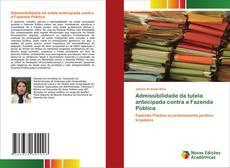 Capa do livro de Admissibilidade da tutela antecipada contra a Fazenda Pública