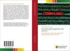 Portada del libro de A construção biopolítica do comum