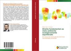 Bookcover of Direito fundamental ao meio ambiente ecologicamente equilibrado