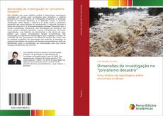 """Portada del libro de Dimensões da investigação no """"jornalismo desastre"""""""