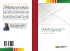 Capa do livro de O procedimento sumaríssimo no processo do trabalho