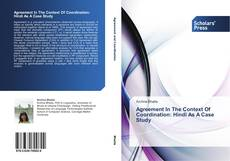 Agreement In The Context Of Coordination: Hindi As A Case Study kitap kapağı