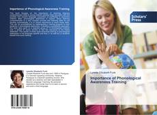 Bookcover of Importance of Phonological Awareness Training