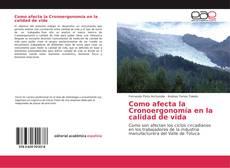 Como afecta la Cronoergonomía en la calidad de vida kitap kapağı
