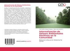 Buchcover von Internalizaciòn de Valores Ambientales Positivos en la Comunidad