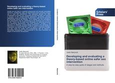 Capa do livro de Developing and evaluating a theory-based online safer sex intervention
