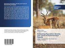 Bookcover of Estimating Population Density and Trend of Soemmerring's Gazelle